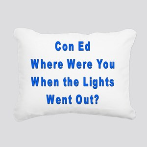 Con Ed Lights Rectangular Canvas Pillow