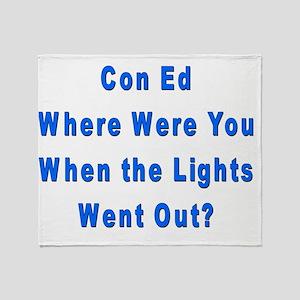 Con Ed Lights Throw Blanket