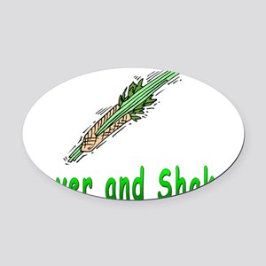 Mover and Shaker Oval Car Magnet