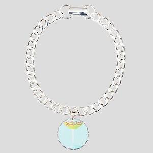 2018 Glass of Champagne Charm Bracelet, One Charm