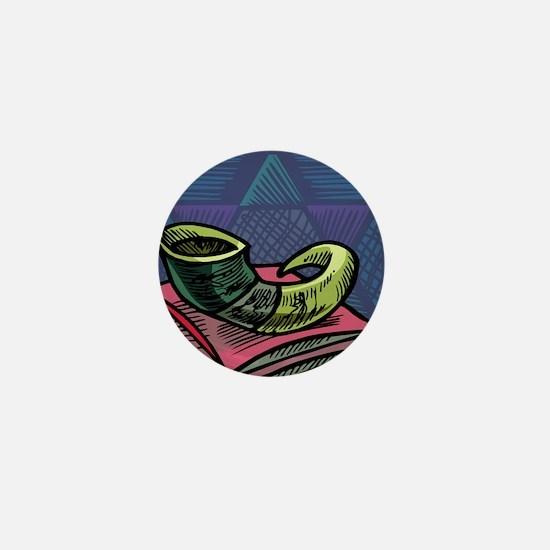 Jewish New year Card-Shofar 2 Mini Button