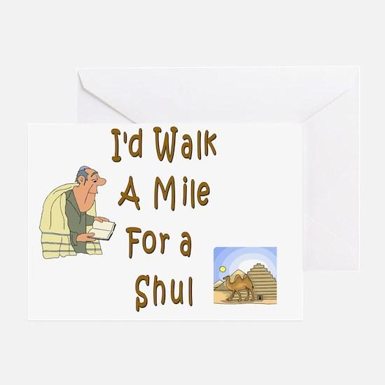 Walk Mile Shul Greeting Card