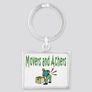 Movers and Achers Landscape Keychain
