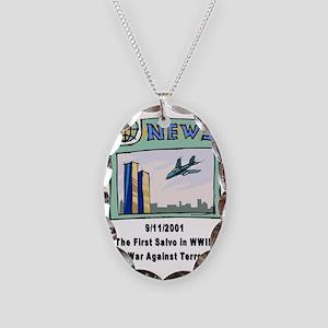 WW3 Necklace Oval Charm