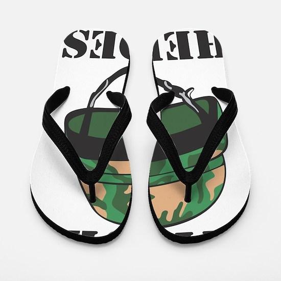 True Heroes Flip Flops
