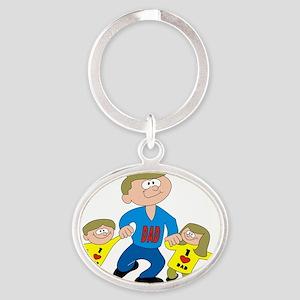 Love Dadddy Oval Keychain