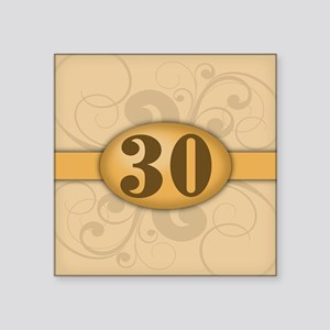 "30th Birthday / Anniversary Square Sticker 3"" x 3"""