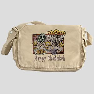 Happy Chanukah Messenger Bag
