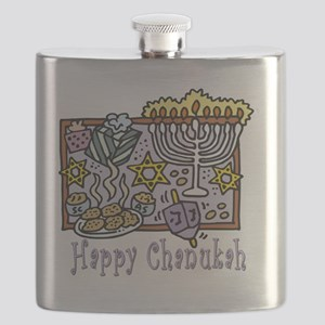 Happy Chanukah Flask