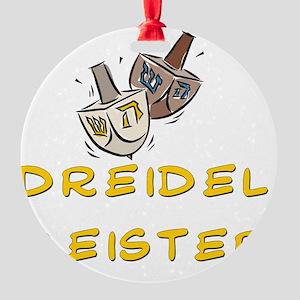 Dreidel Meister Round Ornament