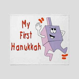 My First Hanukkah Throw Blanket