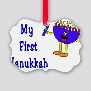 My First Hanukkah Picture Ornament