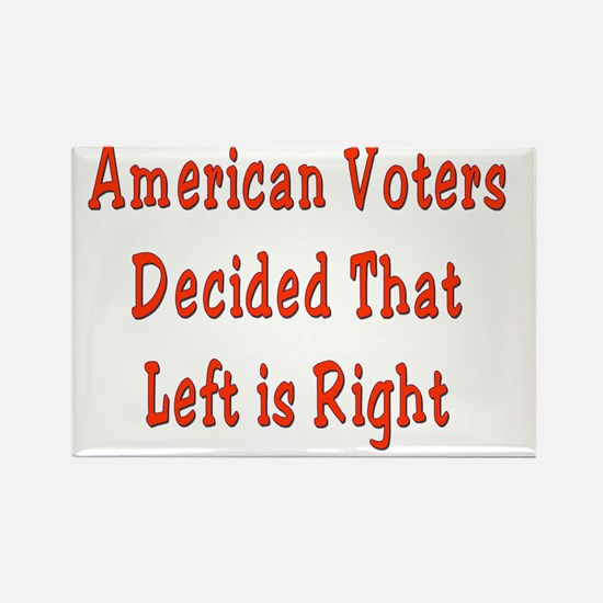 Voters Decide Left is Right Rectangle Magnet