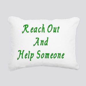 Reach Out Green Rectangular Canvas Pillow