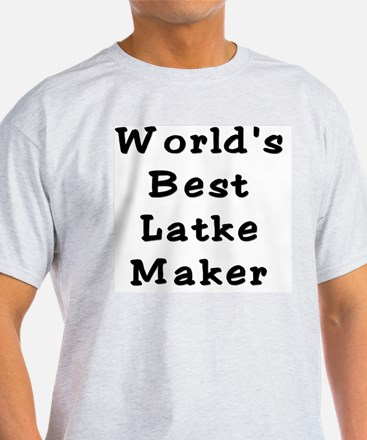 Worlds Best Latke Maker Black T-Shirt