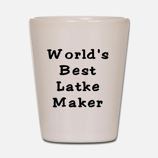 Worlds Best Latke Maker Black Shot Glass