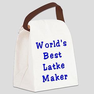 Worlds Best Latke Maker Canvas Lunch Bag