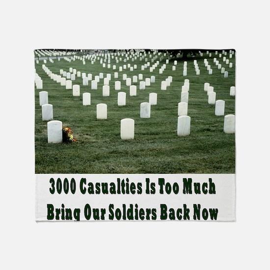 3000 casualities Throw Blanket