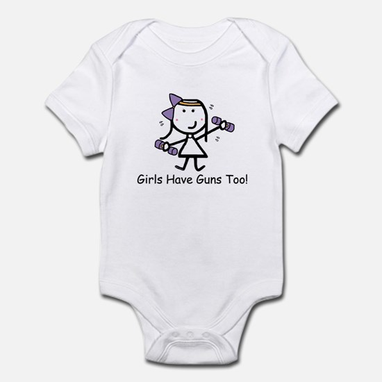Exercise - Girls Guns Infant Bodysuit