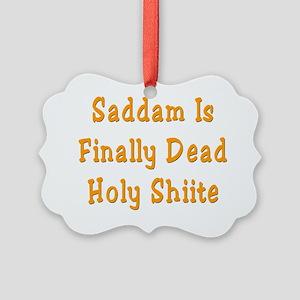 Saddam2 Picture Ornament