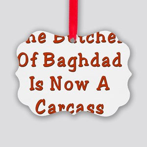 BUtcher of Baghdad Picture Ornament