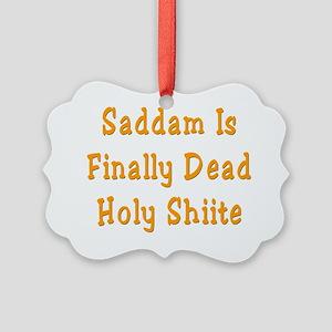 Saddamflat Picture Ornament
