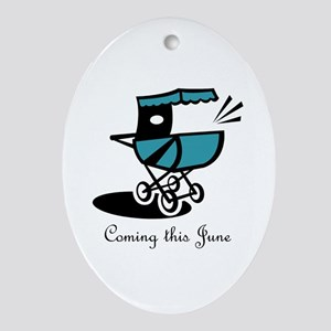 Coming This June Oval Ornament