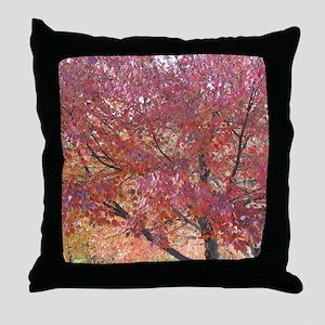 fall folliiage Throw Pillow