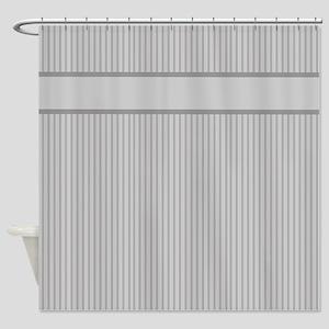 Grey Pin Stripes Pattern Shower Curtain