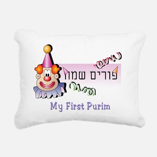 My FIrst Purim 4 Rectangular Canvas Pillow