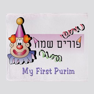 My FIrst Purim 4 Throw Blanket