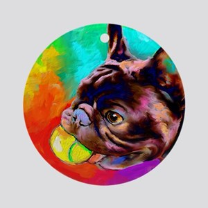 French Bulldog 6 Ornament (Round)