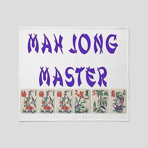 mah jong master Throw Blanket