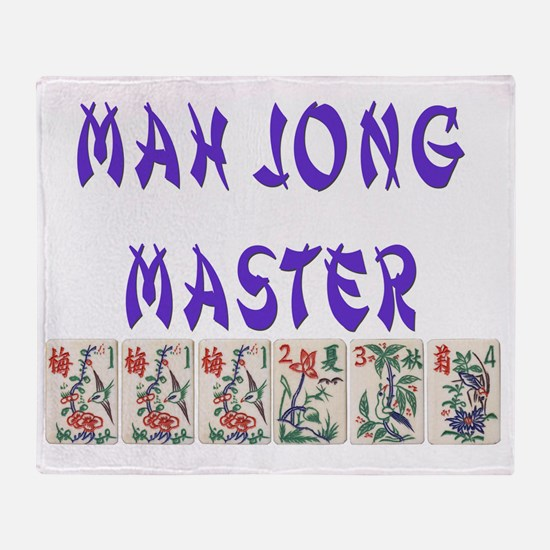 mah jong master Throw Blanket