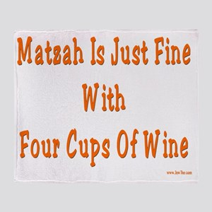 Matzah wine3 flat Throw Blanket