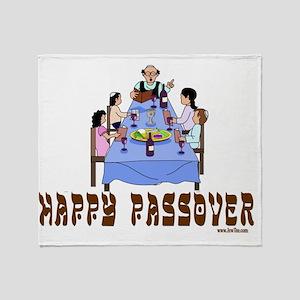 Happy Passover Throw Blanket