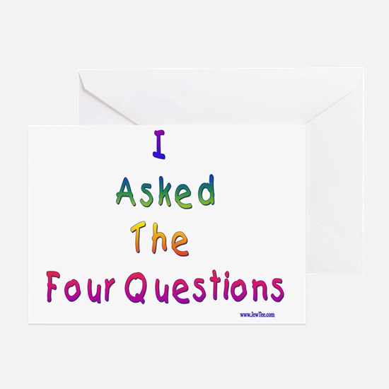 4 questions Greeting Card