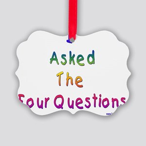 4 questions Picture Ornament