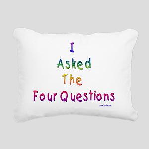 4 questions Rectangular Canvas Pillow