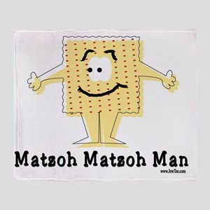 MAtzoh Matzoh Man Throw Blanket