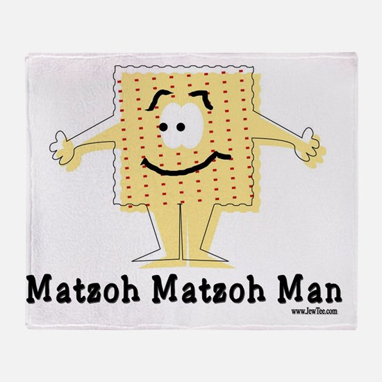 MAtzoh Matzoh Man Throw Blanket