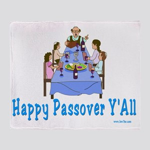 Happy Passover Yall4 flat Throw Blanket