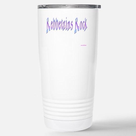 Rebbetzins Rock 4 flat Stainless Steel Travel Mug