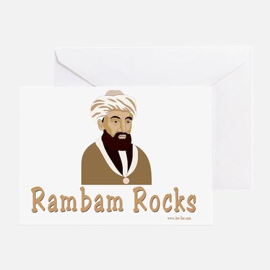 Rambam Rocks Black flat Greeting Card