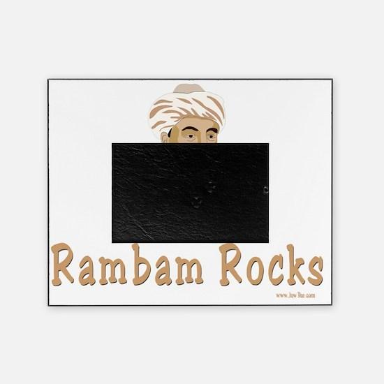 Rambam Rocks Black flat Picture Frame
