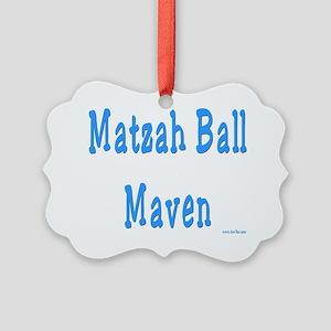 MAtzah Ball Maven flat Picture Ornament