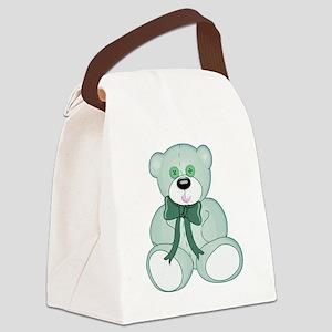 Light Green Baby Teddy Bear Canvas Lunch Bag