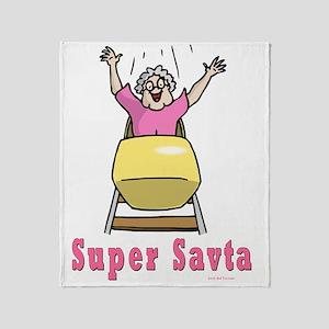 Super Savta Throw Blanket