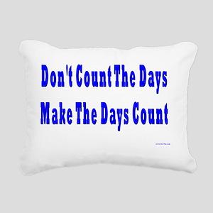 Count Days Rectangular Canvas Pillow