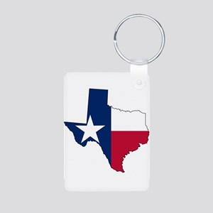 Texas Map Outline and Flag Keychains